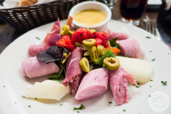 Antipasto salad at Patzeria Family and Friends in NYC, New York