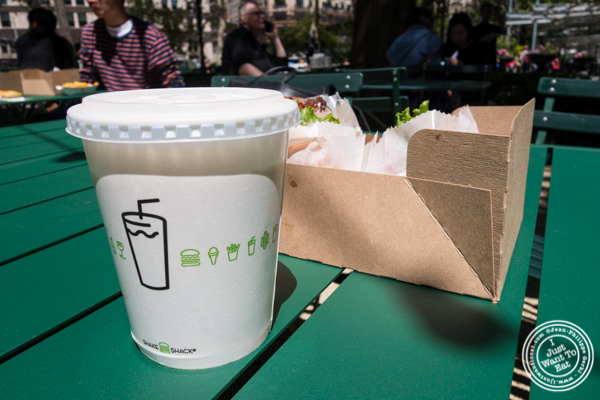 Vanilla milkshake at  Shake Shack at Madison Square Park, NYC, New York