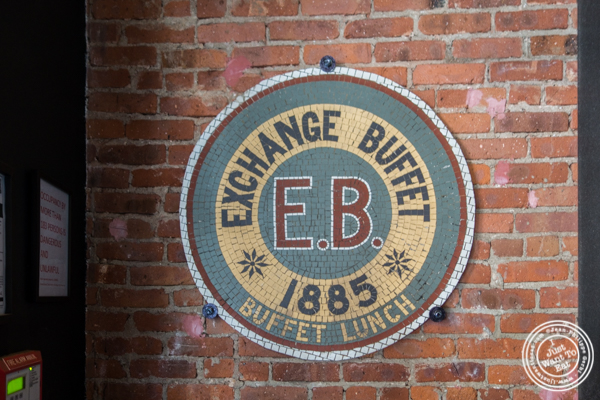 Exchange buffet signage at Obica, Italian restaurant in NYC, New York