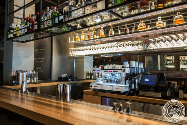Bar at Obica, Italian restaurant in NYC, New York