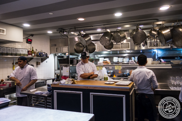 Kitchen at L'Artusi, Italian Restaurant in the West Village, NYC, New York