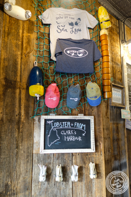 Decor of Luke's Lobster in Hoboken, NJ