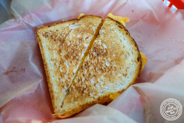 Grilled cheese at Luke's Lobster in Hoboken, NJ