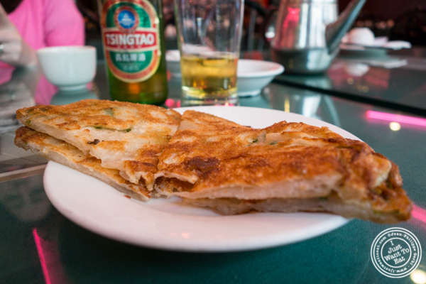 Scallion pancakes at Joe's Ginger in Chinatown, NYC, New York