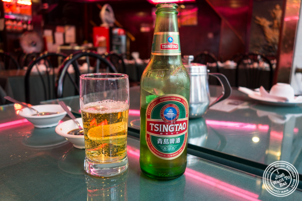 Tsing Tao beer at Joe's Ginger in Chinatown, NYC, New York