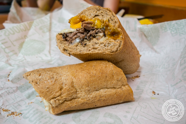 Black Angus Steak Sandwich at  Quiznos subs in NYC, Ne  w York
