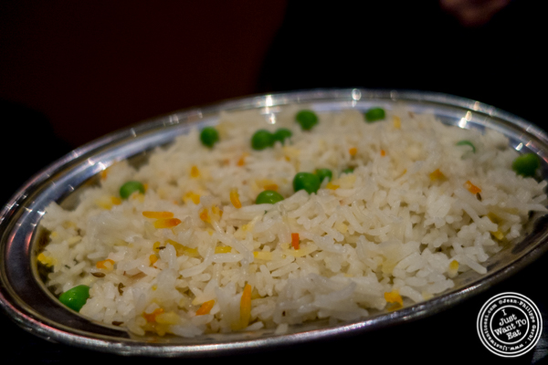 Rice pulao at  Benares, Indian restaurant in TriBeCa, NYC, New York