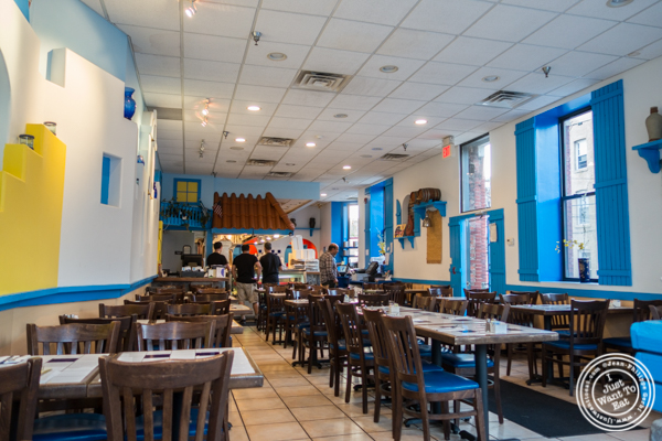 Dining room at It's Greek To Me in Hoboken, NJ