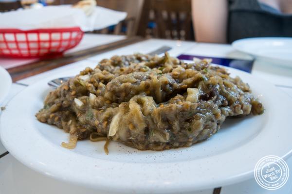 Melitzanosalata or eggplant salad atIt's Greek To Me in Hoboken, NJ