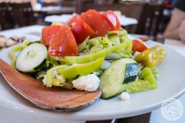 Greek salad at  It's Greek To Me in Hoboken, NJ