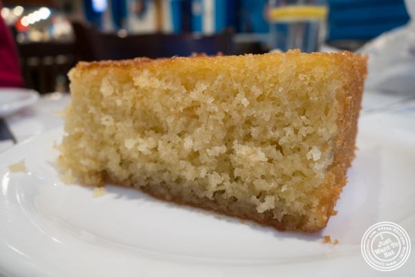 Ravani  cake at  at  It's Greek To Me in Hoboken, NJ