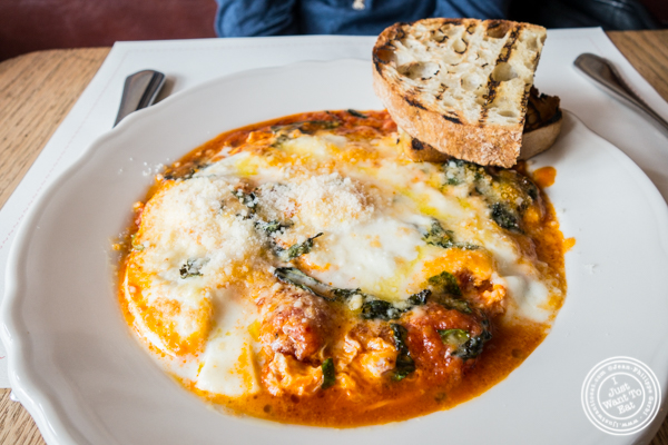 Baked eggs at Bar Primi in NYC, New York
