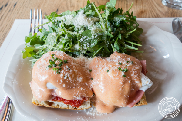 Italian eggs benedict at Bar Primi in NYC, New York
