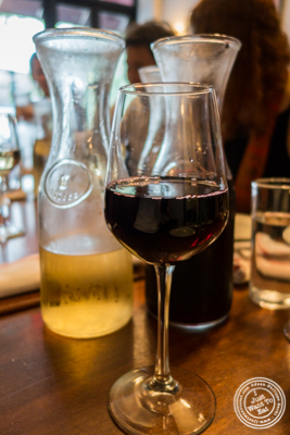 House wine at La Sirene, French Restaurant, NYC, New York