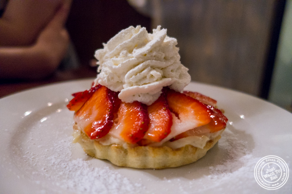 Strawberry tart at La Sirene, French Restaurant, NYC, New York
