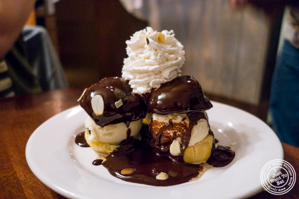 Profiteroles at La Sirene, French Restaurant, NYC, New York