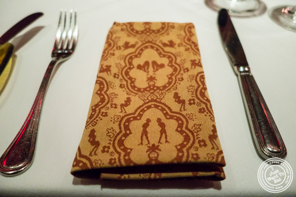 Napkin at Strip House in NYC, New York
