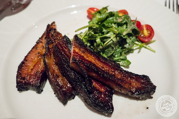 Roasted bacon at Strip House in NYC, New York