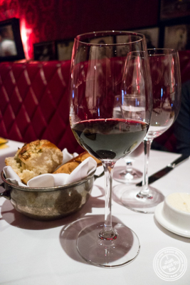Glass of Chorey-Les-Beaunes, domaine Tollot-Beaut, Cote D'Or 2010 at Strip House in NYC, New York