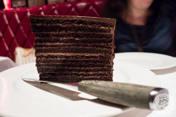 Strip House chocolate cake at Strip House in NYC, New York