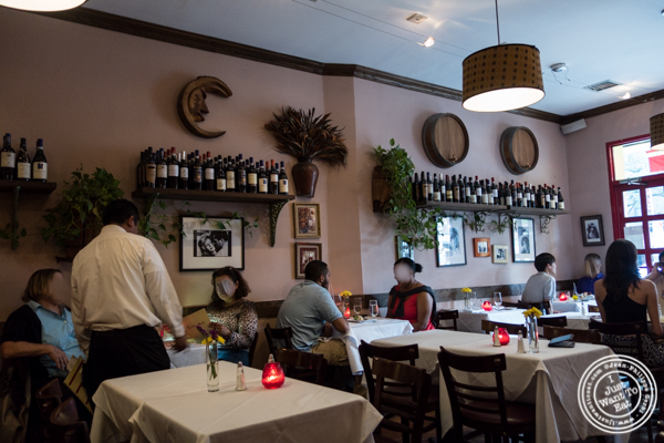 Dining room at Cara Mia, Italian restaurant in Hell's Kitchen