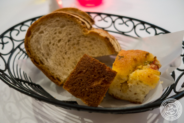 Bread basket at Cara Mia, Italian restaurant in Hell's Kitchen