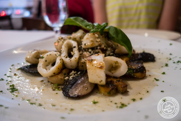 Roasted calamari at Cara Mia, Italian restaurant in Hell's Kitchen