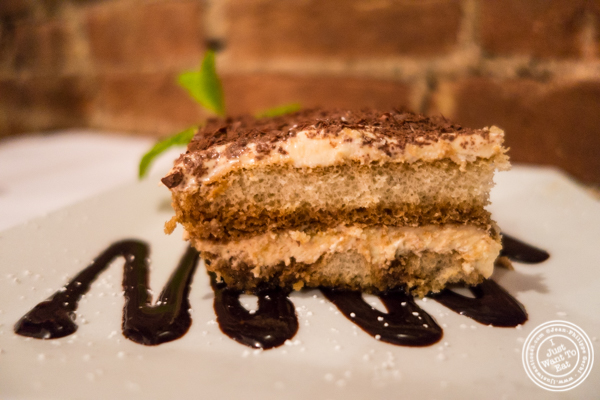 Tiramisu at Cara Mia, Italian restaurant in Hell's Kitchen