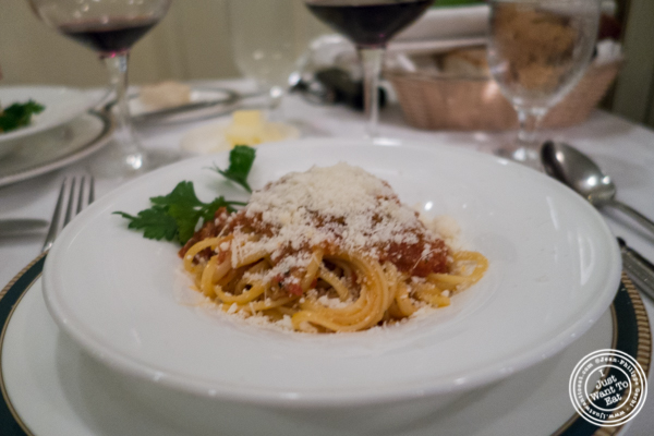 Linguine all'amatriciana atIl Tinello in NYC, New York