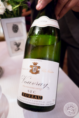 Vouvray sec at Bouley in TriBeCa, NYC, New York