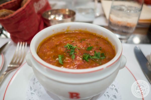 Gazpacho at Benoit in NYC, New York