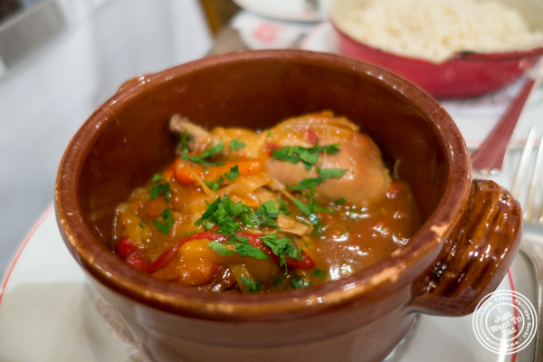 Poulet a la Basquaise at Benoit in NYC, New York