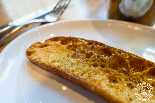Grilled bread at The Harold in NYC, New York