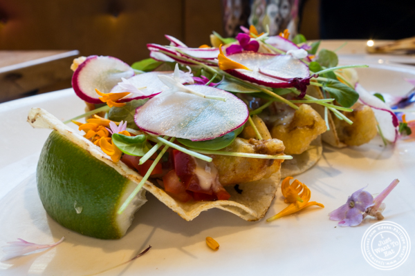 Fish tacos at The Harold in NYC, New York