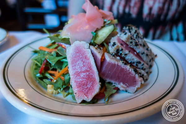 Seared tuna salad at Hudson Tavern in Hoboken, NJ