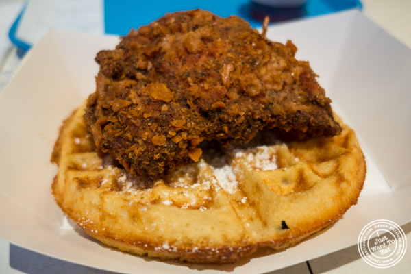 Fried chicken and waffle at Hill Country Chicken in NYC, New York