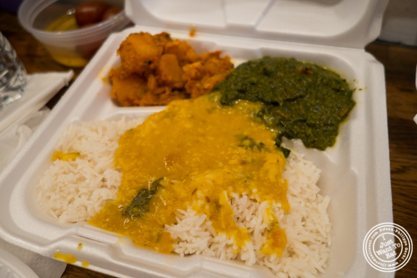 Vegetarian box at Patiala in NYC, New York