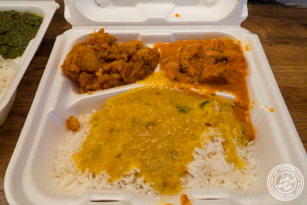 Chicken tikka masala box at Patiala in NYC, New York