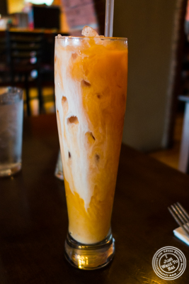 Thai iced tea at Hi-So Thai in Weehawken, NJ