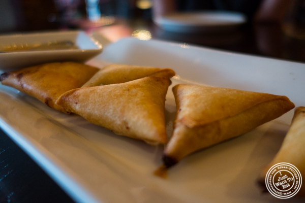 Flaky crust curry puffs at Hi-So Thai in Weehawken, NJ