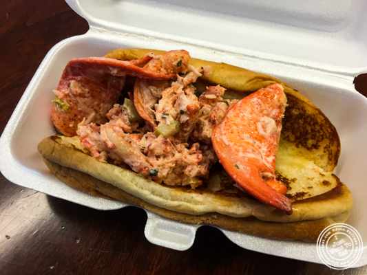 Classic roll at NY Lobster Club Truck in NYC, New York