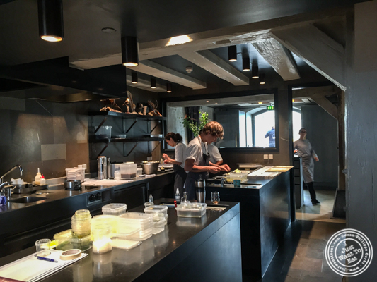 Kitchen at Noma in Copenhagen, Denmark