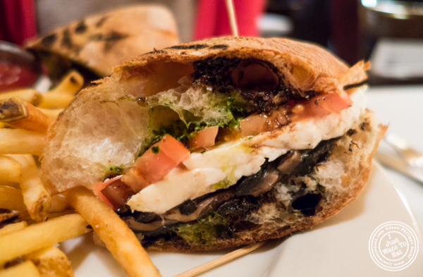 Portobello sandwich at Hudson Tavern in Hoboken, NJ