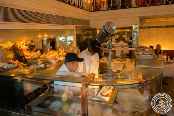 Seafood station at Blue Water Grill in NYC, New York