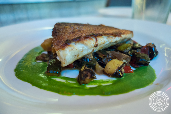 Pan seared tile fish at Blue Water Grill in NYC, New York