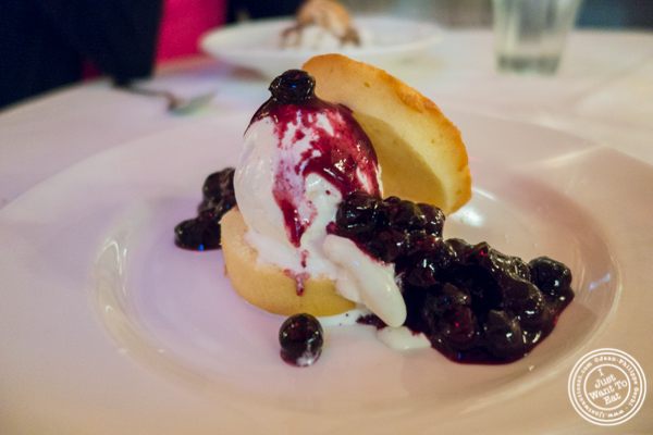 Blueberry shortcake at Blue Water Grill in NYC, New York