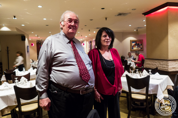Executive Chef Sabeh Kachouh and his wife Sonia at Byblos, Lebanese restaurant in NYC, New York