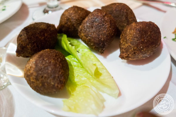 Kibbee Krass at Byblos, Lebanese restaurant in NYC, New York