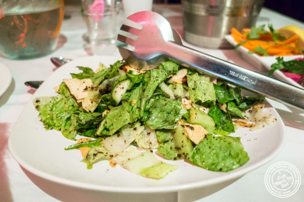 Fattoush salad at Byblos, Lebanese restaurant in NYC, New York