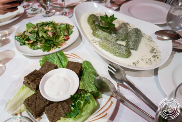 Dishes at Byblos, Lebanese restaurant in NYC, New York